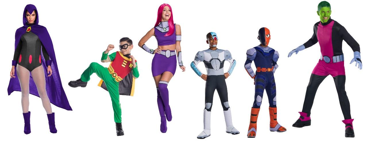 Ideas para disfraces de los Jóvenes Titanes